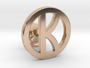 kingsman cufflinks - customizable in 14k Rose Gold Plated