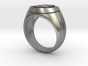 Green Lantern Ring in Natural Silver