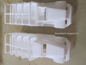 1/144 Diamond T968 truck set of two in White Natural Versatile Plastic