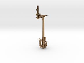 HO NSWR LQ RH Offset Bracket Signal + Parts in Natural Brass