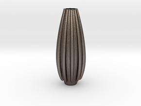 Vase 231 in Polished Bronzed Silver Steel