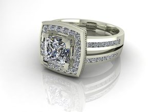 Grace collection channel halo NO STONES SUPPLIED in Fine Detail Polished Silver