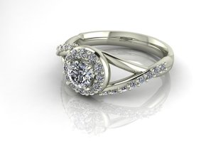Grace collection 8 NO STONES SUPPLIED in Fine Detail Polished Silver