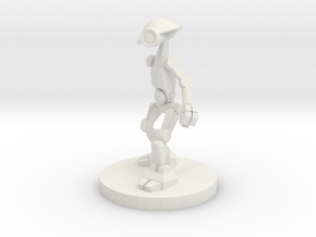 Pit Droid in White Natural Versatile Plastic
