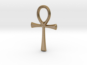 Ankh in Polished Gold Steel