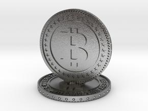 Sculpture bitcoin in Natural Silver