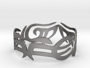 Tribal Bracelet in Polished Nickel Steel