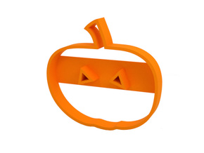 Cookie cutter in Orange Processed Versatile Plastic