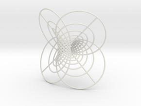 Hopf-12 circles in White Natural Versatile Plastic