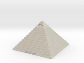 Pyramid of Illuminati in Natural Sandstone