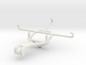 Controller mount for Shield 2017 & Lava X46 - Fron in White Natural Versatile Plastic