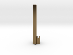 A Metal Apple Pencil Clip [ iPad Pro ] in Polished Bronze