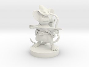 Mousefolk Ranger in White Natural Versatile Plastic