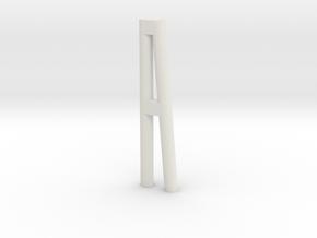 Duckdalben 2er rund mit Innenstreben 1:120 in White Natural Versatile Plastic