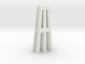 Duckdalben 6er rund mit Innenstreben 1:120 in White Natural Versatile Plastic