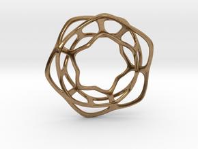 Hex Möbius, 32mm in Natural Brass