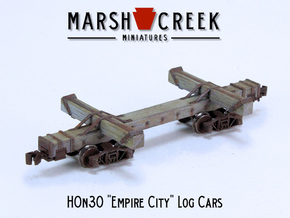 HOn30 Empire City Log Car in Smoothest Fine Detail Plastic