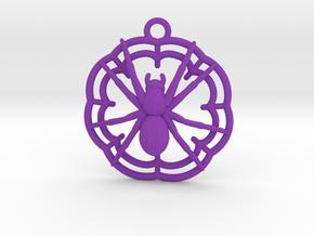 Spider earring in Purple Processed Versatile Plastic