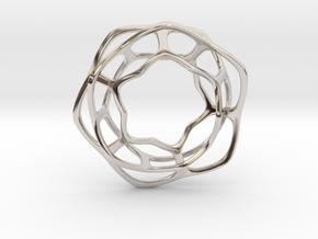 Hex Möbius, 48mm in Platinum