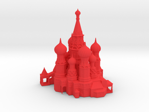 10CM St. Basil Cathedral Desk Art in Red Processed Versatile Plastic