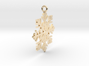 Snow Fall in 14k Gold Plated Brass