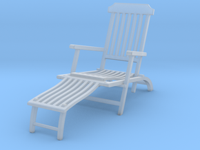 Deck Chair Ergonomic various scales in Smooth Fine Detail Plastic: 1:12