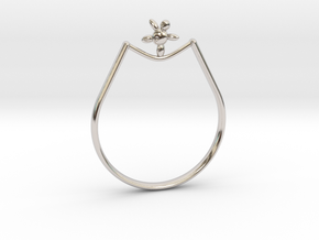 Rope walker Ring in Rhodium Plated Brass: 9 / 59