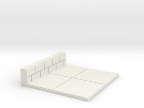 2x2 for 1.25 inch grid. 1 wall in White Natural Versatile Plastic