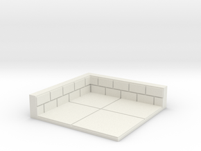 2x2 for 1.25 inch grid:Corner in White Natural Versatile Plastic