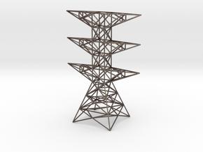 pylon in Polished Bronzed Silver Steel