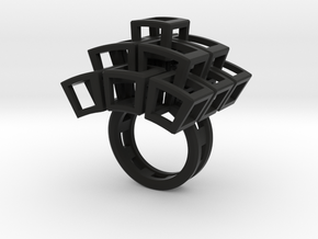 Kubusring-3 / Cubesring-3 layers in Black Strong & Flexible: 7.75 / 55.875