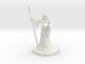 Elf Staff Wizard in White Natural Versatile Plastic