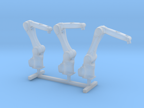 HO Scale 3x Robotic Arm in Smooth Fine Detail Plastic
