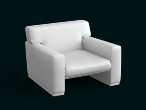 1:10 Scale Model - ArmChair 05 in White Natural Versatile Plastic