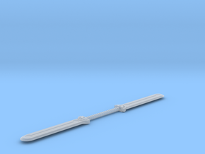 Double Bladed Sword  in Smooth Fine Detail Plastic