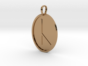Cen Rune (Anglo Saxon) in Polished Brass