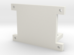 SG90 Servo Bracket Mount in White Natural Versatile Plastic
