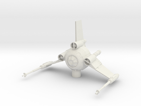 Tri Wing Fighter in White Natural Versatile Plastic