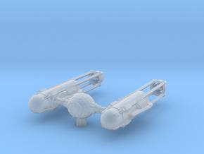 TYE-Wing - Dart Variation in Smooth Fine Detail Plastic