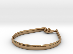 Rope Sitter ring in Polished Brass: 9 / 59