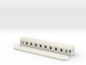 Co4b version 1 - Swedish passenger wagon in White Natural Versatile Plastic