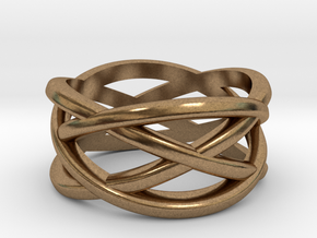 Cross Ring in Natural Brass: 5 / 49