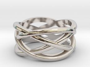 Cross Ring in Rhodium Plated Brass: 5 / 49