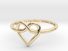 Infinity Love Ring in 14k Gold Plated: 6 / 51.5