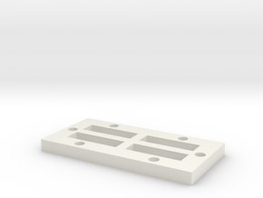 1x2_Mag_Base in White Natural Versatile Plastic