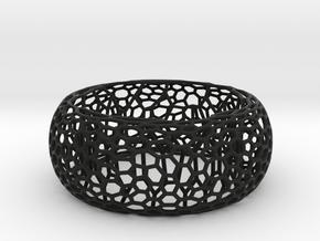 Honeycomb Bangle in Black Natural Versatile Plastic: Large