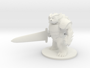 Battle Owl Bear in White Strong & Flexible