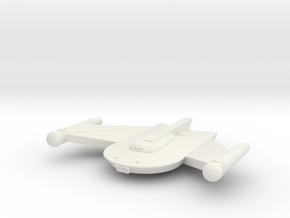 3788 Scale Romulan Snipe Frigate MGL in White Natural Versatile Plastic