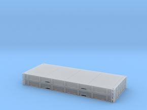 1:87 2 X 20 Plattform Container Metallboden in Smoothest Fine Detail Plastic