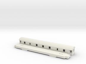 Fo4 - Swedish passenger wagon in White Natural Versatile Plastic